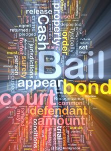 Bail bonds word cloud, bail terminology